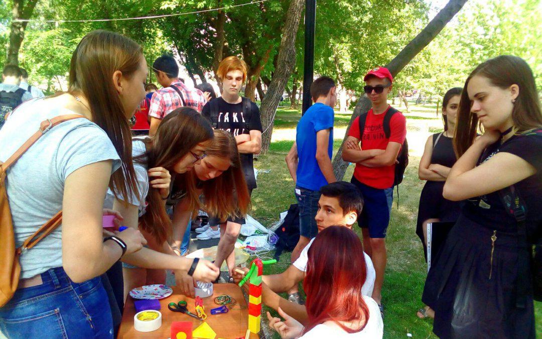 Волонтеры фонда «Сохраняя жизнь» приняли участие в первом городском турнире по инженерному творчеству «Машина Голдберга 2018»